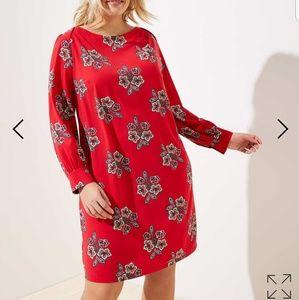 Loft Crimson Red dress